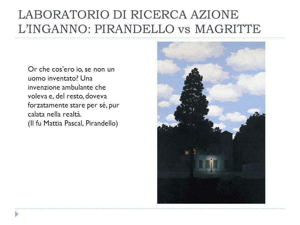 LABORATORIO DI RICERCA AZIONE LINGANNO: PIRANDELLO vs MAGRITTE Or che cosero io, se non un uomo inventato.