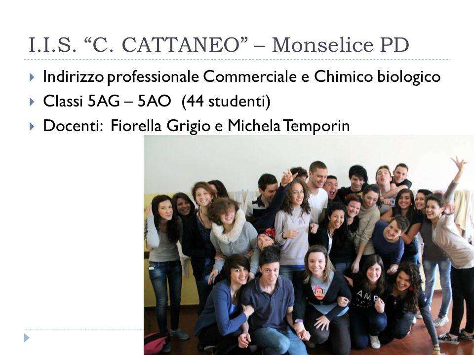 I.I.S. C. CATTANEO – Monselice PD Indirizzo professionale Commerciale e Chimico biologico Classi 5AG – 5AO (44 studenti) Docenti: Fiorella Grigio e Mi