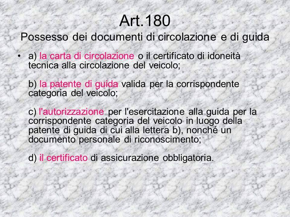 Art. 173 Uso di lenti o di determinati apparecchi durante la guida 1. Il titolare di patente di guida, al quale in sede di rilascio o rinnovo della pa