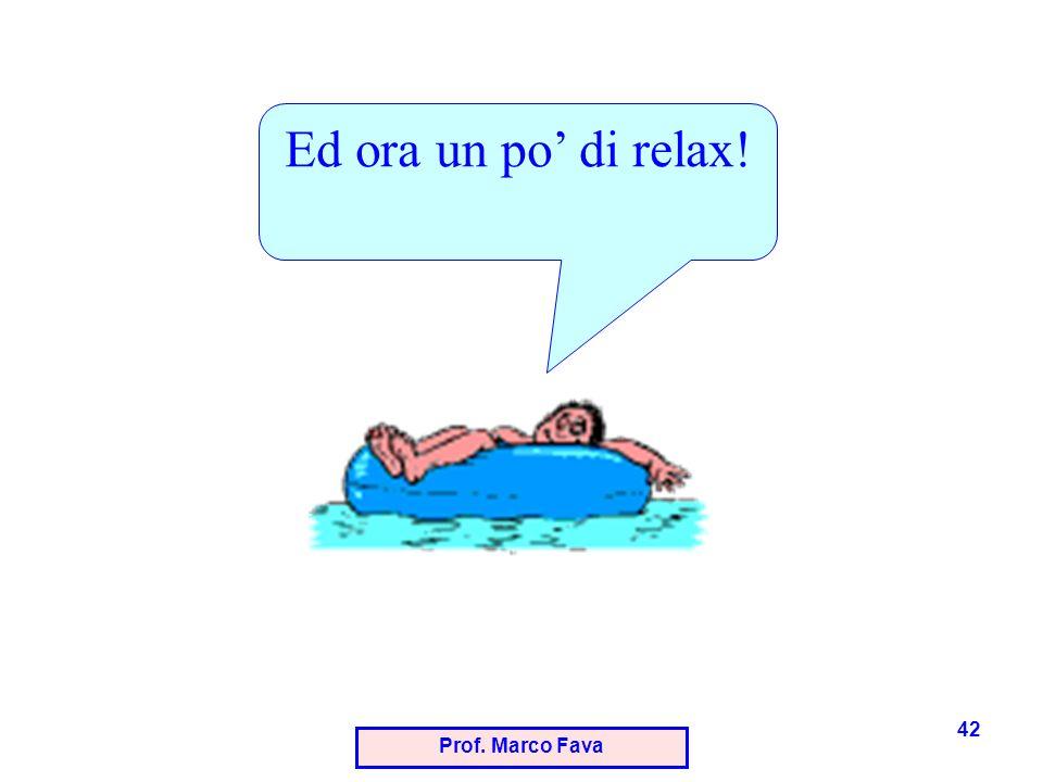 Prof. Marco Fava 42 Ed ora un po di relax!