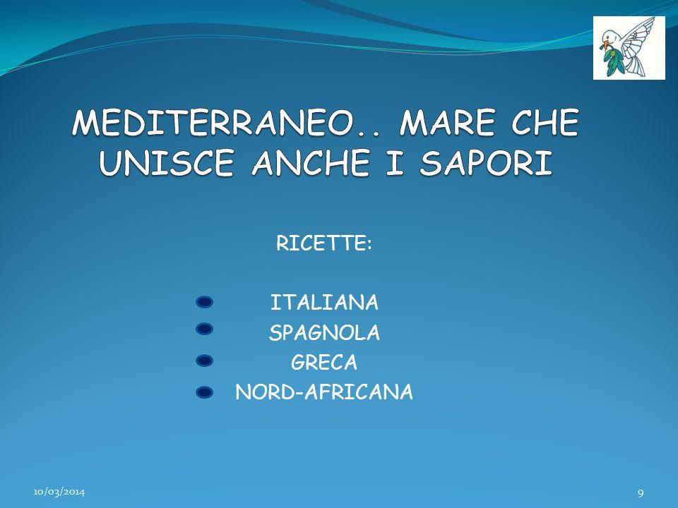 RICETTE: ITALIANA SPAGNOLA GRECA NORD-AFRICANA 10/03/20149