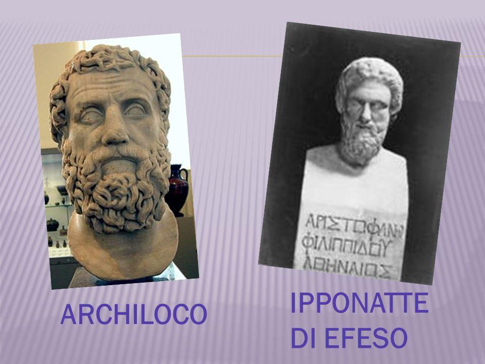 ARCHILOCO IPPONATTE DI EFESO