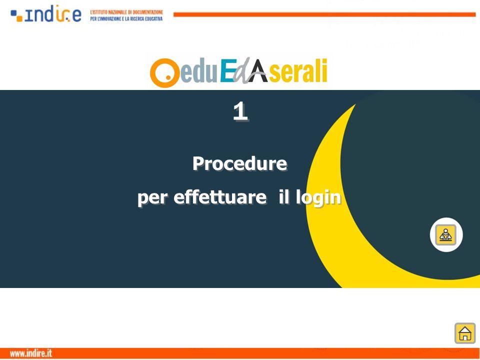 Procedure per effettuare il login Procedure per effettuare il login 1 1