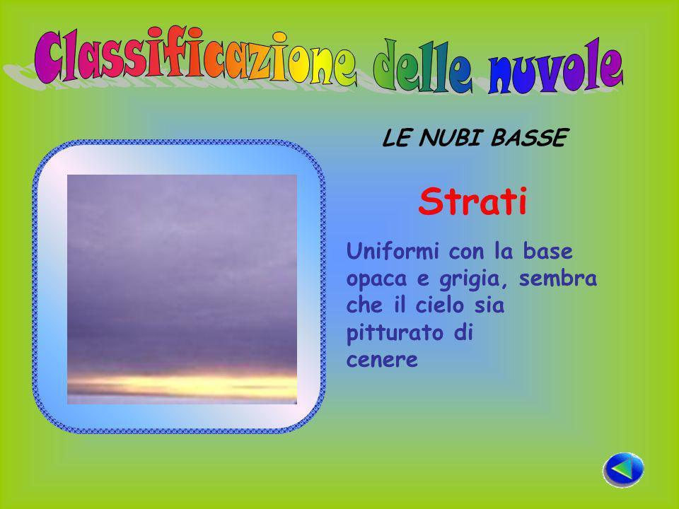 LE NUBI BASSE Strati Uniformi con la base opaca e grigia, sembra che il cielo sia pitturato di cenere