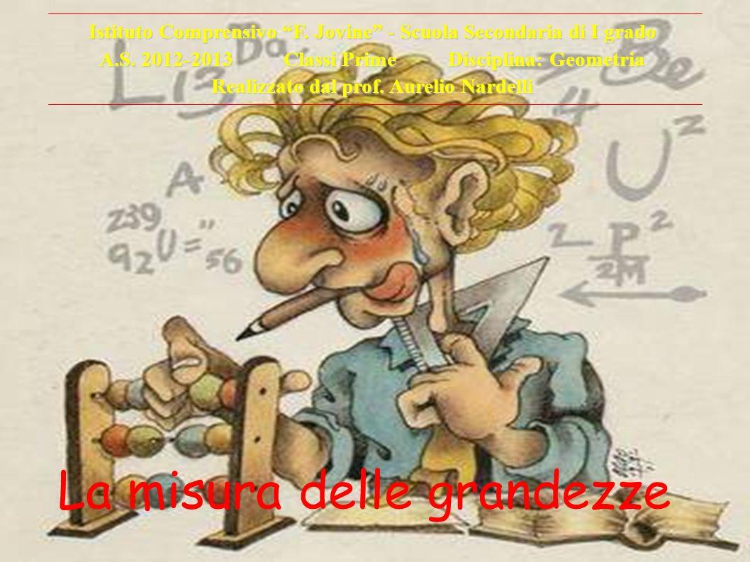 La misura delle grandezze Istituto Comprensivo F. Jovine - Scuola Secondaria di I grado A.S. 2012-2013 Classi Prime Disciplina: Geometria Realizzato d