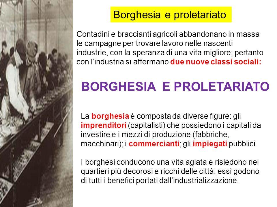 Il proletariato è costituito dai lavoratori salariati impiegati nelle industrie e nelle campagne, ossia da coloro che vendono il proprio lavoro ad un imprenditore in cambio di un salario.