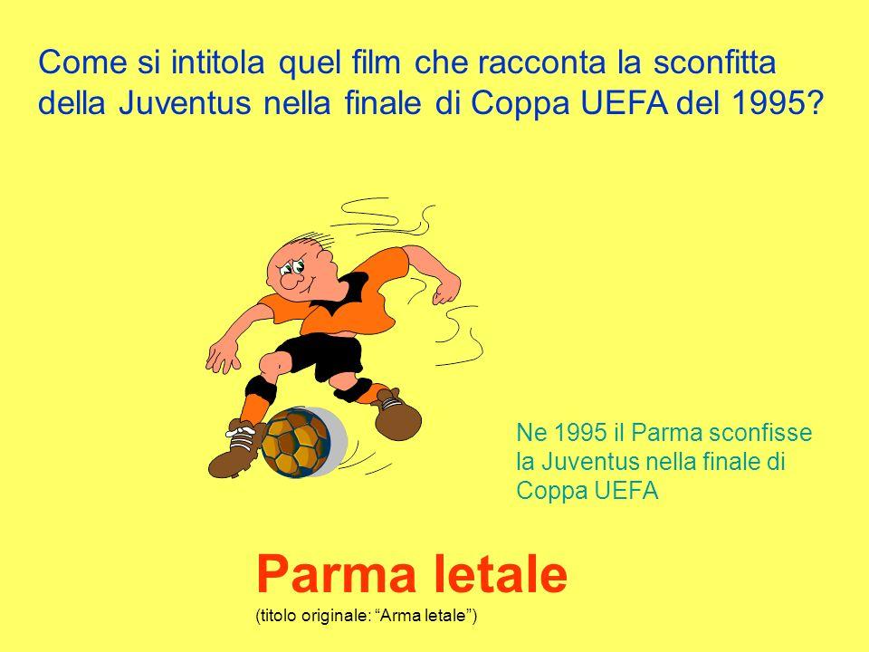 Come si intitola quel film che racconta la sconfitta della Juventus nella finale di Coppa UEFA del 1995.