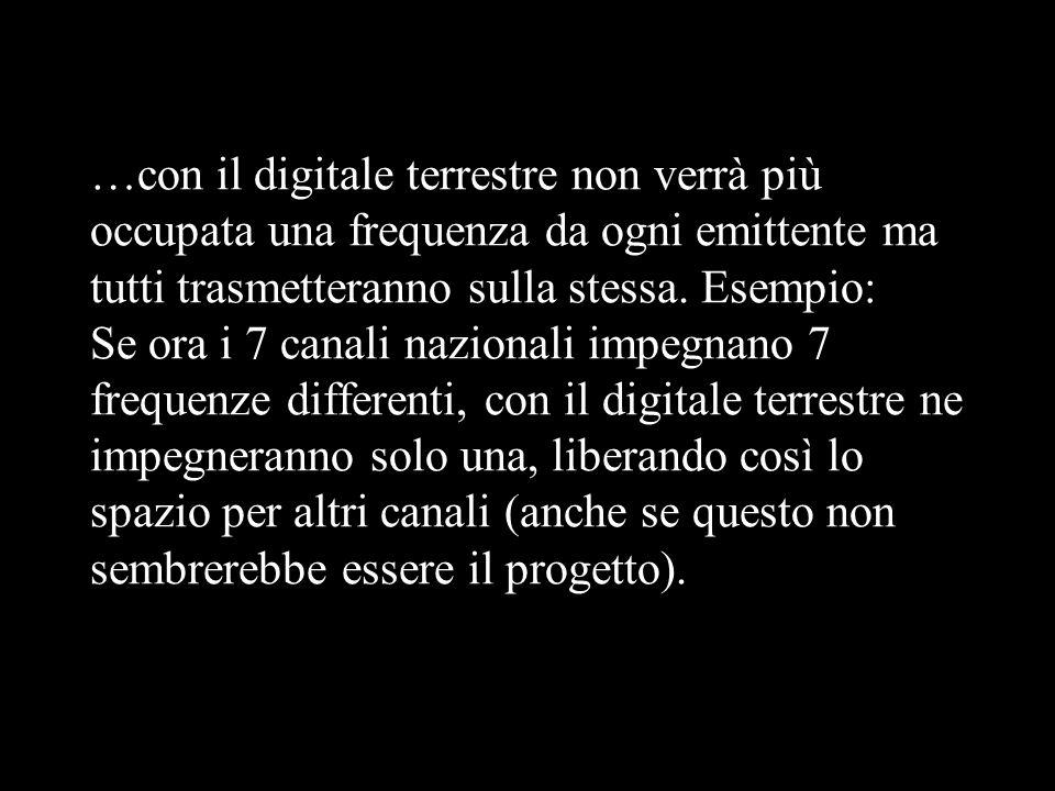 Ma che cosè il Digitale Terrestre? Detto in semplici termini, il digitale terrestre è una modalità con cui il governo cerca di risolvere la diatriba s