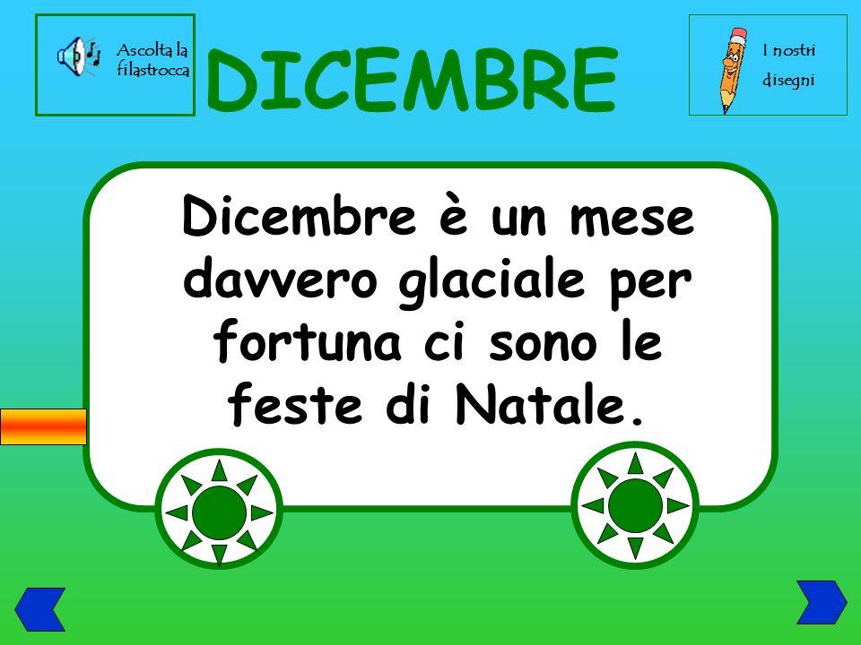 DICEMBRE Dicembre è un mese davvero glaciale per fortuna ci sono le feste di Natale.