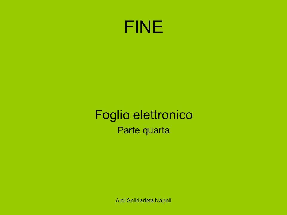 Arci Solidarietà Napoli FINE Foglio elettronico Parte quarta