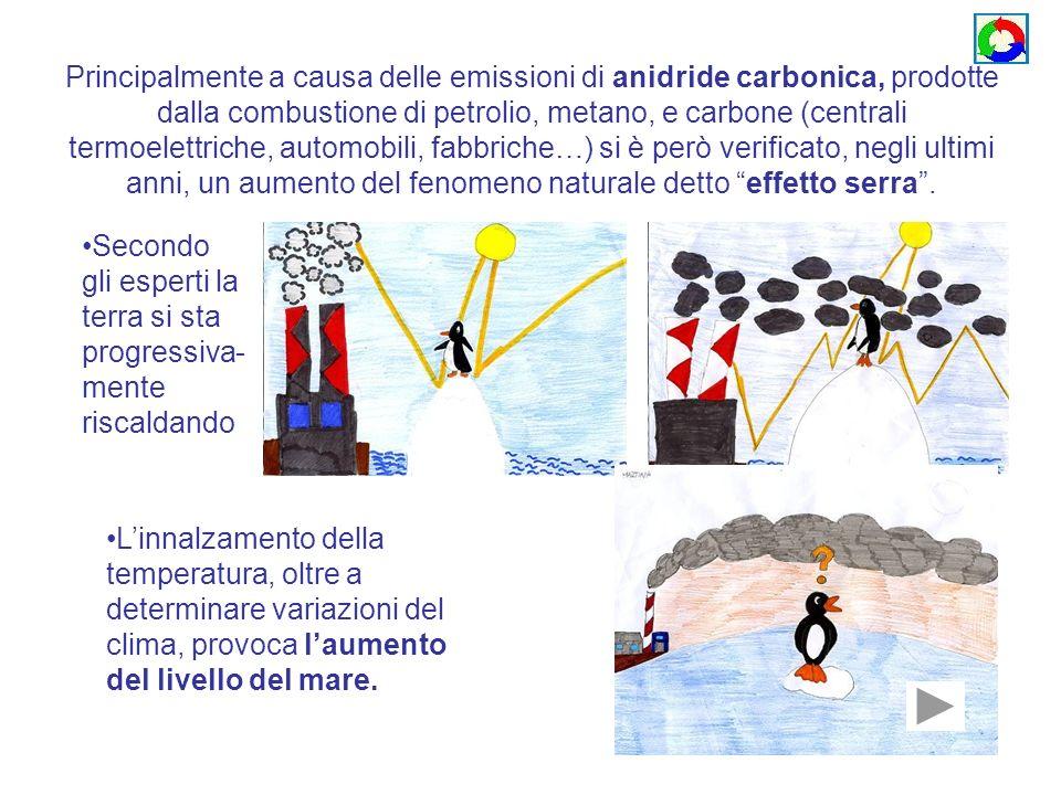 Principalmente a causa delle emissioni di anidride carbonica, prodotte dalla combustione di petrolio, metano, e carbone (centrali termoelettriche, aut