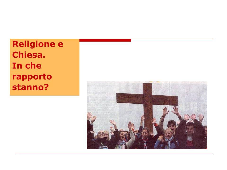 Religione e Chiesa. In che rapporto stanno?