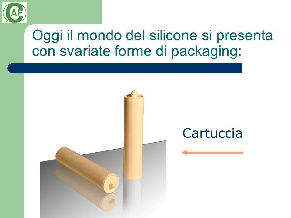 Oggi il mondo del silicone si presenta con svariate forme di packaging: Cartuccia