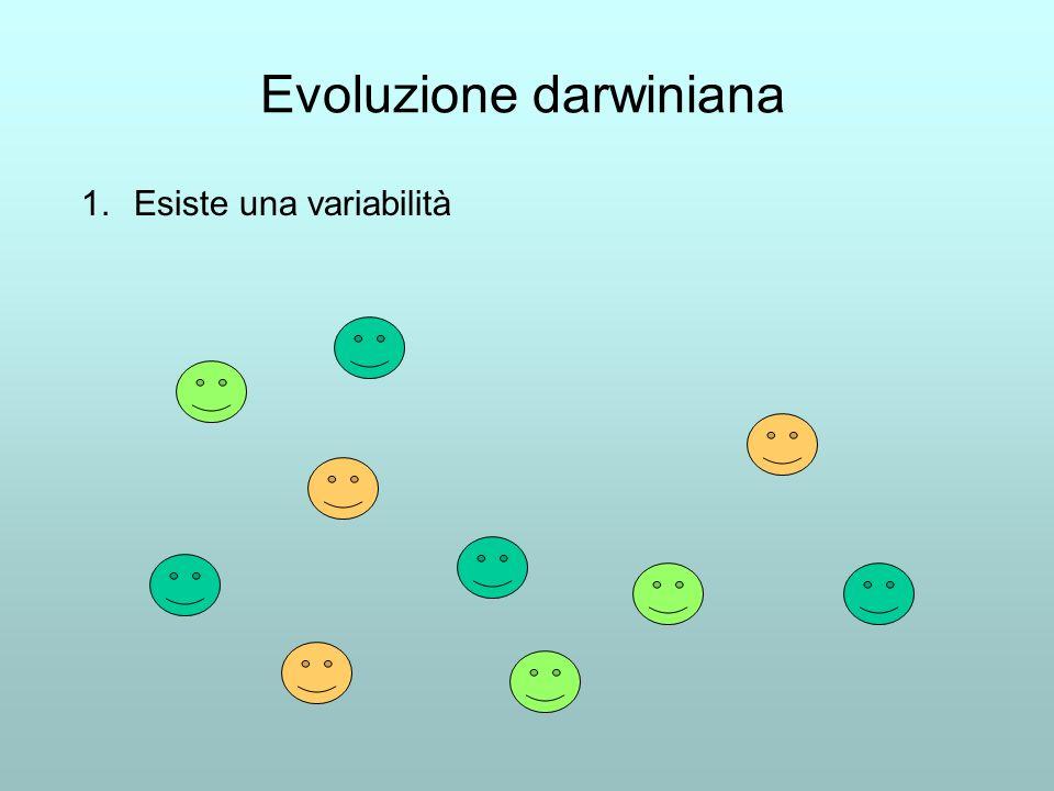 Evoluzione darwiniana 1.Esiste una variabilità