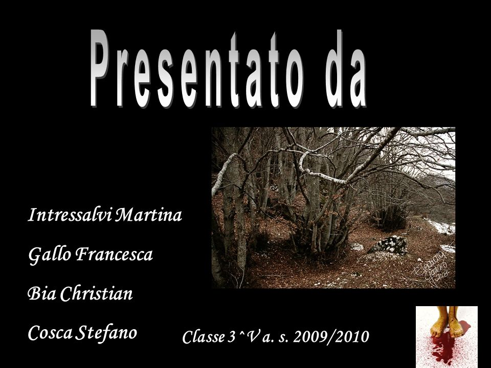 Intressalvi Martina Gallo Francesca Bia Christian Cosca Stefano Classe 3^V a. s. 2009/2010