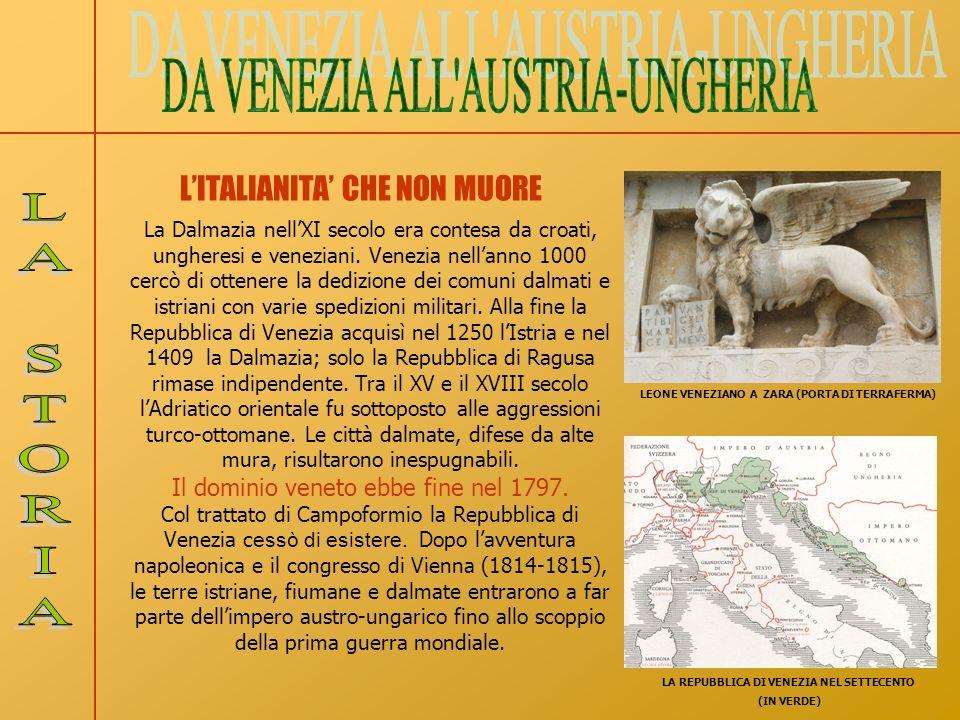La Dalmazia nellXI secolo era contesa da croati, ungheresi e veneziani. Venezia nellanno 1000 cercò di ottenere la dedizione dei comuni dalmati e istr