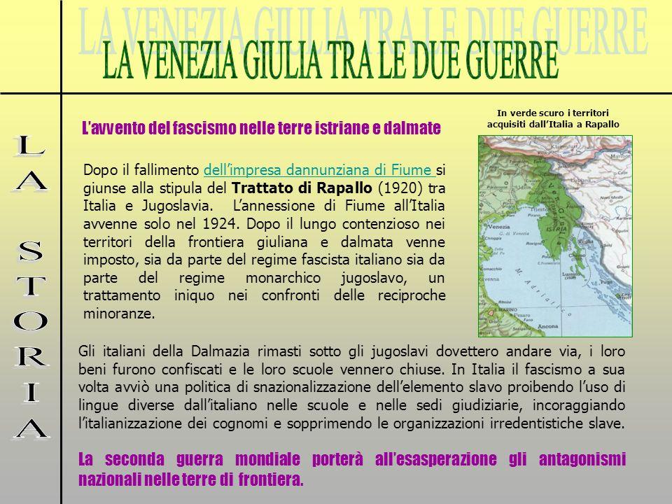 Gli italiani della Dalmazia rimasti sotto gli jugoslavi dovettero andare via, i loro beni furono confiscati e le loro scuole vennero chiuse. In Italia