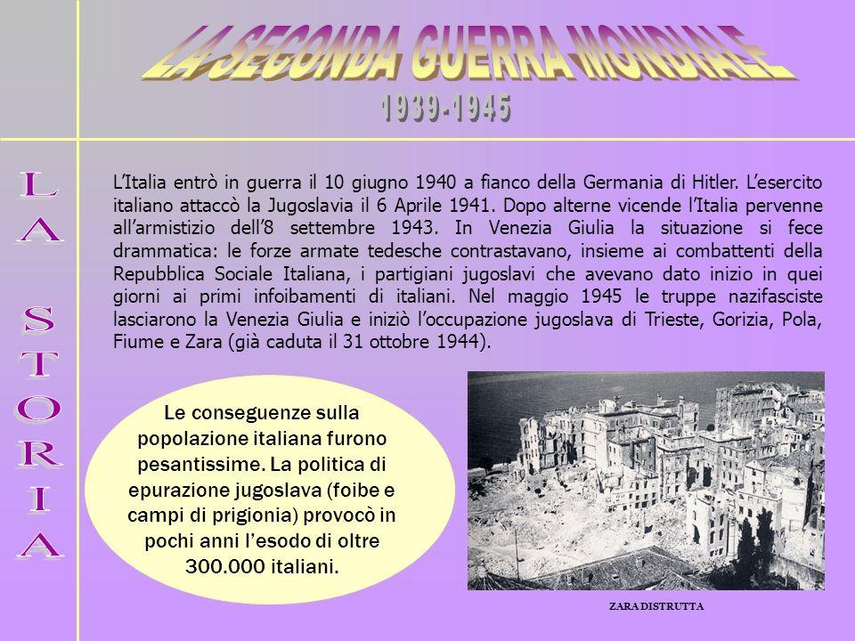 Con il Trattato di pace di Parigi del 1947 lItalia cedette alla Jugoslavia gran parte dei territori che aveva ottenuto sul confine orientale dopo la prima guerra mondiale (1914- 1918).