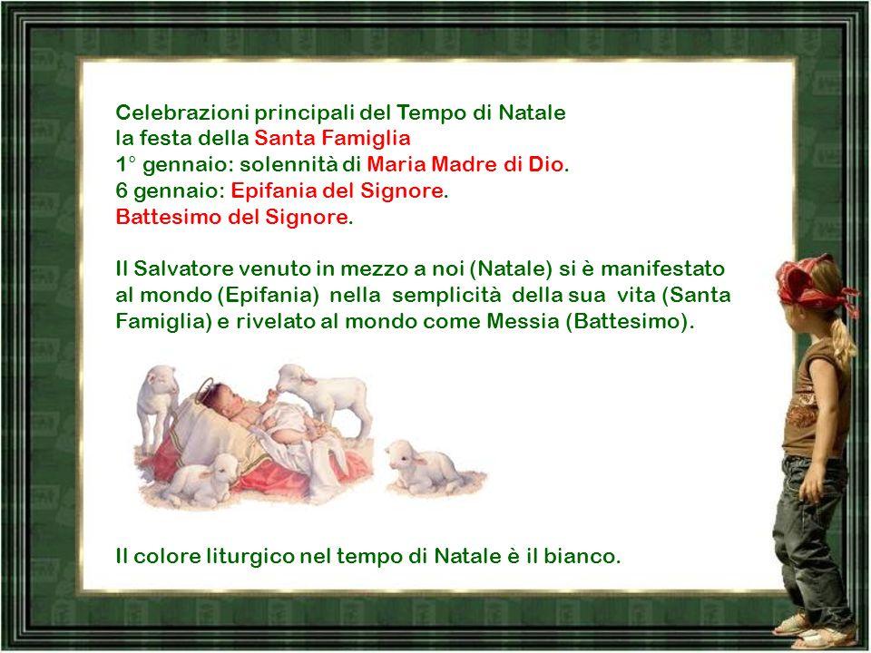 Il tempo di Natale incomincia con i vespri della Natività e termina con la festa del Battesimo del Signore. Nel tempo di Natale celebriamo la nascita