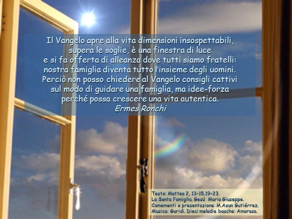 Testo: Matteo 2, 13-15.19-23.La Santa Famiglia. Gesú Maria Giuseppe.