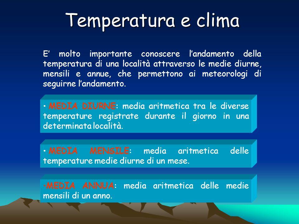 Le isoterme Sono linee che uniscono località aventi le medesime temperature in una carta.