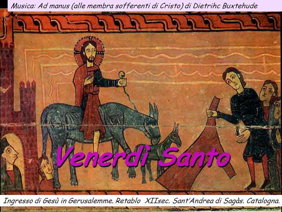 Venerdì Santo Ingresso di Gesù in Gerusalemme.Retablo XIIsec.