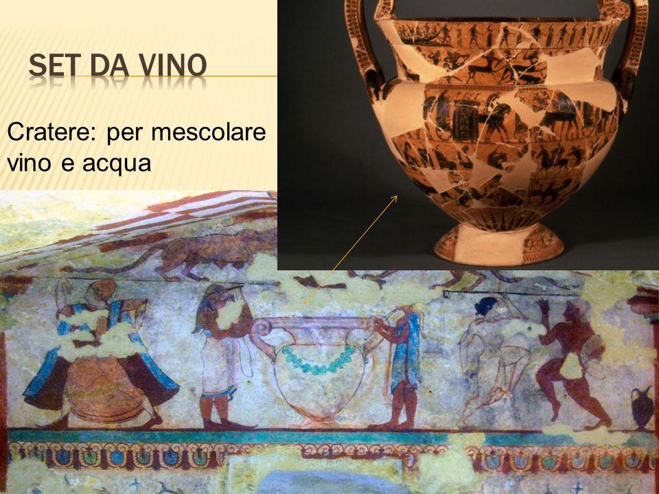 Cratere: per mescolare vino e acqua