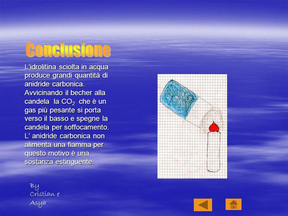 Lidrolitina sciolta in acqua produce grandi quantità di anidride carbonica.