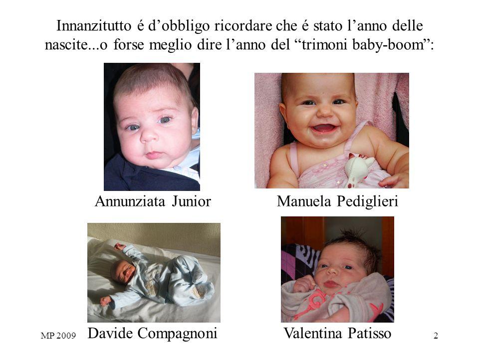 MP 20092 Innanzitutto é dobbligo ricordare che é stato lanno delle nascite...o forse meglio dire lanno del trimoni baby-boom: Valentina Patisso Annunz