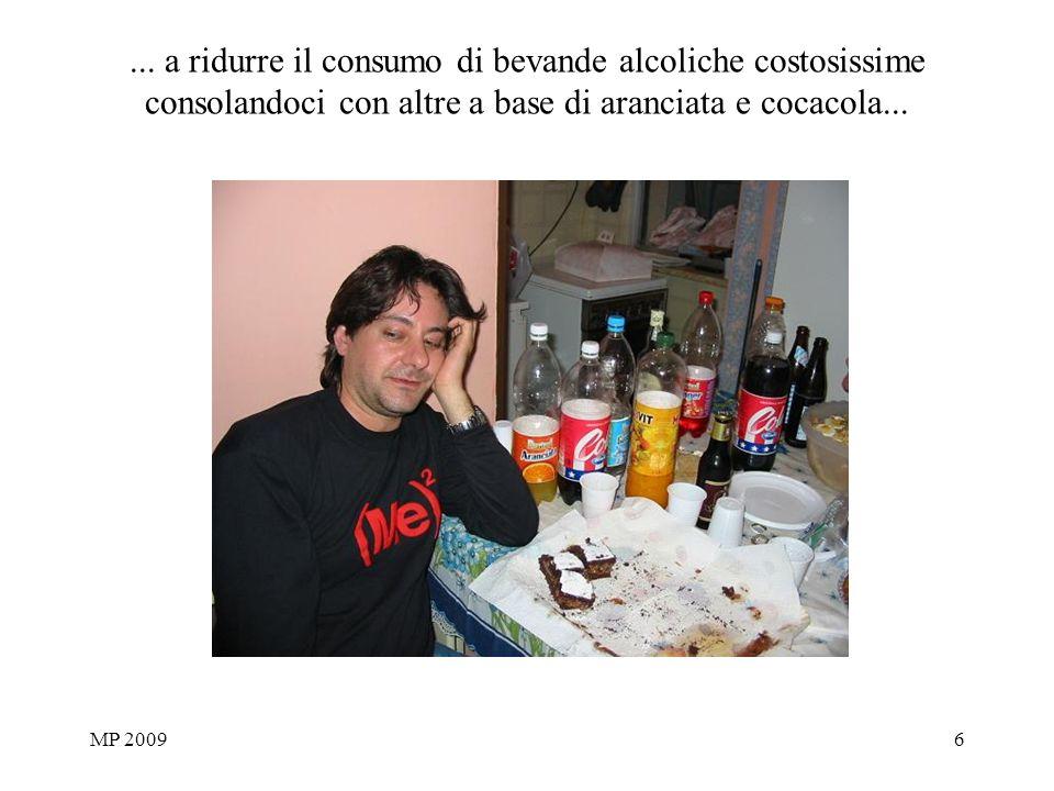 MP 20096... a ridurre il consumo di bevande alcoliche costosissime consolandoci con altre a base di aranciata e cocacola...