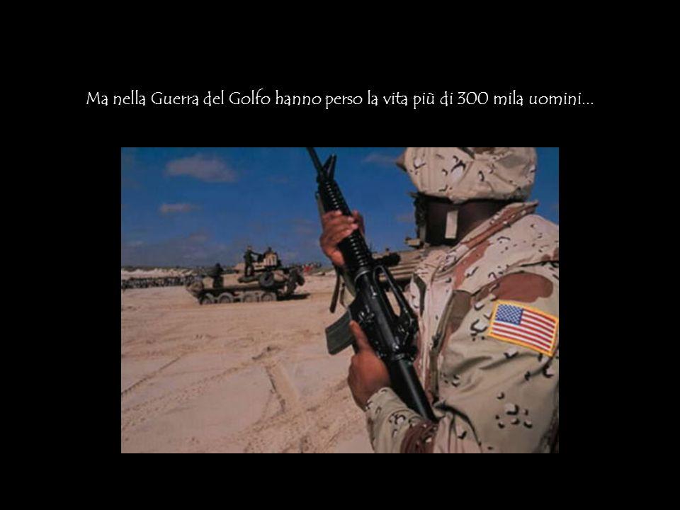 Ma nella Guerra del Golfo hanno perso la vita più di 300 mila uomini...