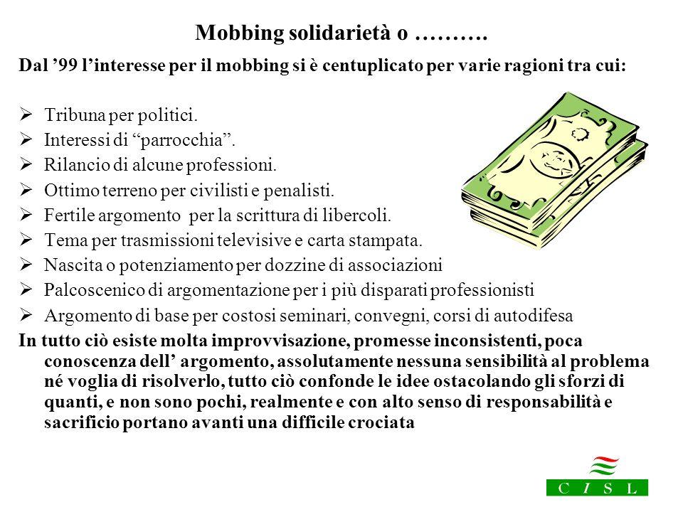 Mobbing solidarietà o ……….