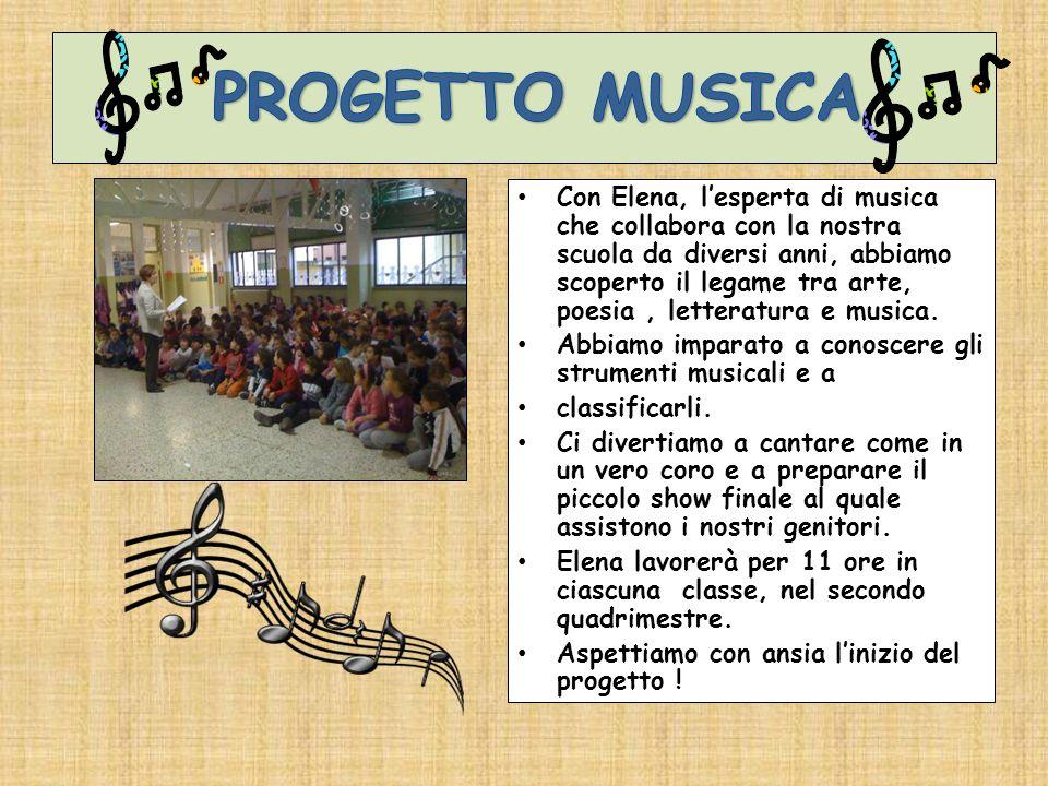 Con Elena, lesperta di musica che collabora con la nostra scuola da diversi anni, abbiamo scoperto il legame tra arte, poesia, letteratura e musica. A