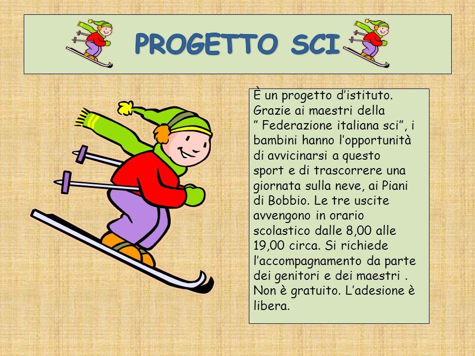 È un progetto distituto. Grazie ai maestri della Federazione italiana sci, i bambini hanno lopportunità di avvicinarsi a questo sport e di trascorrere