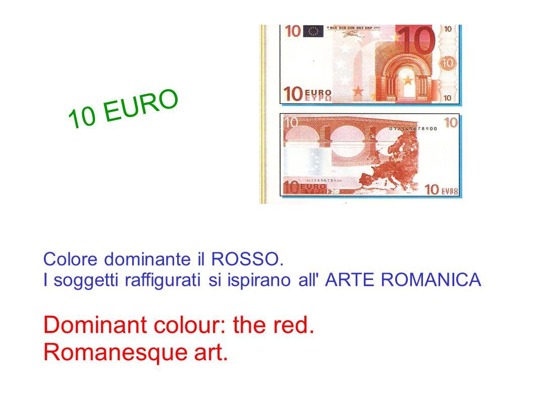 Colore dominante il ROSSO. I soggetti raffigurati si ispirano all' ARTE ROMANICA Dominant colour: the red. Romanesque art. 10 EURO