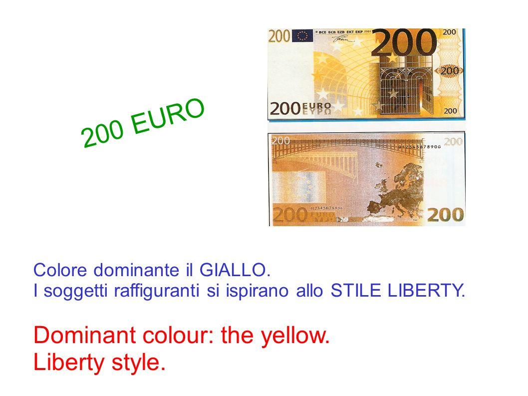Colore dominante il GIALLO. I soggetti raffiguranti si ispirano allo STILE LIBERTY. Dominant colour: the yellow. Liberty style. 200 EURO