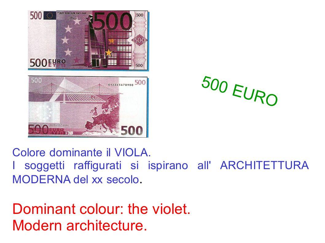 Colore dominante il VIOLA. I soggetti raffigurati si ispirano all' ARCHITETTURA MODERNA del xx secolo. Dominant colour: the violet. Modern architectur