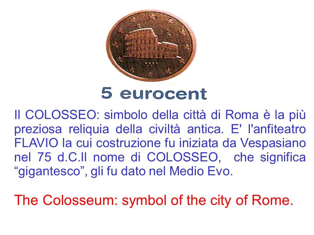 Il COLOSSEO: simbolo della città di Roma è la più preziosa reliquia della civiltà antica. E' l'anfiteatro FLAVIO la cui costruzione fu iniziata da Ves