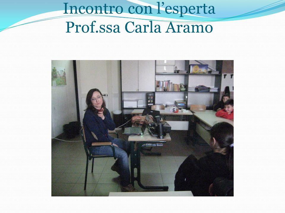 Incontro con lesperta Prof.ssa Carla Aramo