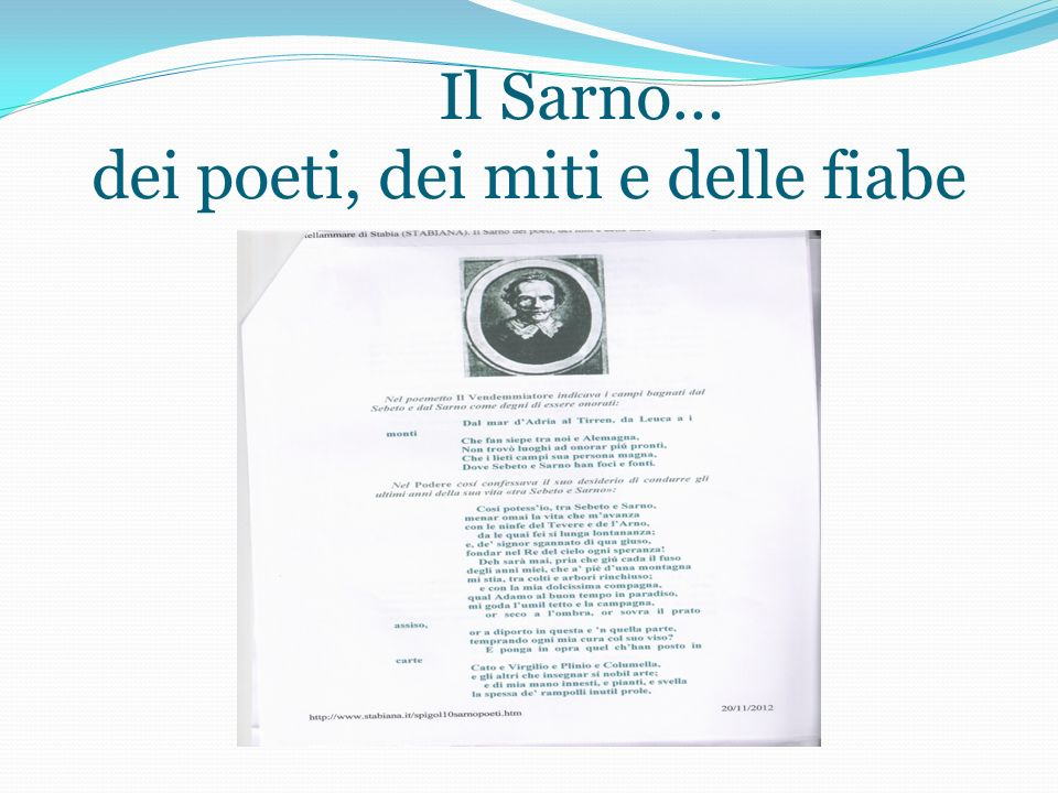 ,,, Lacqua nella poesia e nella letteratura. l Il Sarno… dei poeti, dei miti e delle fiabe