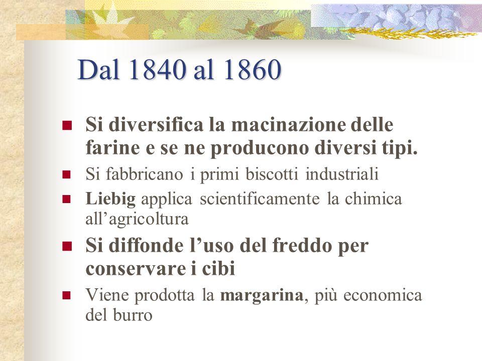Dal 1795 al 1810 Il francese Nicolas Appert scopre la possibilità di conservare gli alimenti in contenitori chiusi, dopo bollitura: nasce la sterilizz