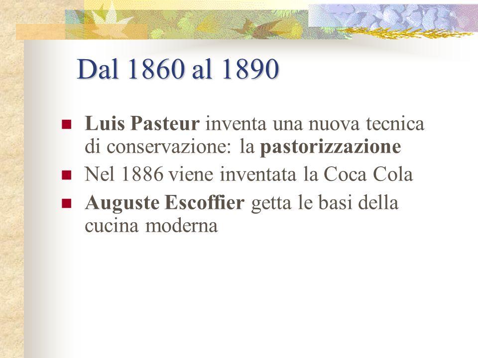 Dal 1840 al 1860 Si diversifica la macinazione delle farine e se ne producono diversi tipi. Si fabbricano i primi biscotti industriali Liebig applica
