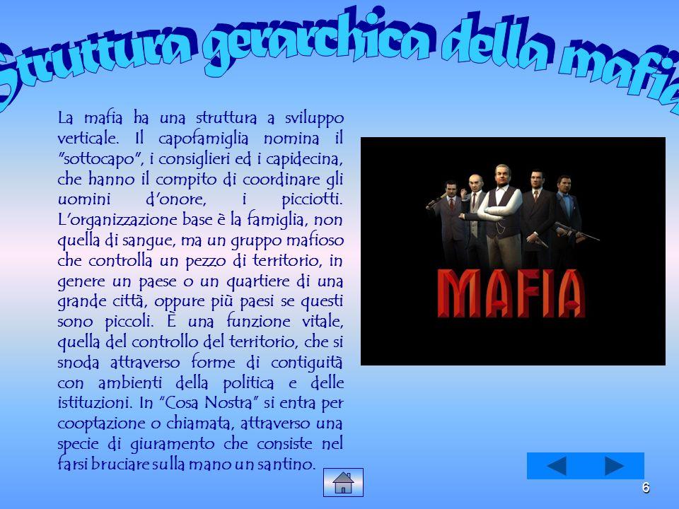 5 Per quanto riguarda l Italia, fenomeni delinquenziali come la mafia hanno attecchito in particolari zone meridionali del nostro paese, angustiate da