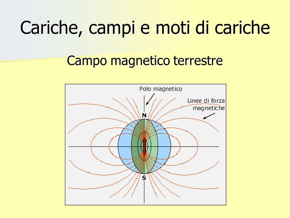 Cariche, campi e moti di cariche Campo magnetico terrestre