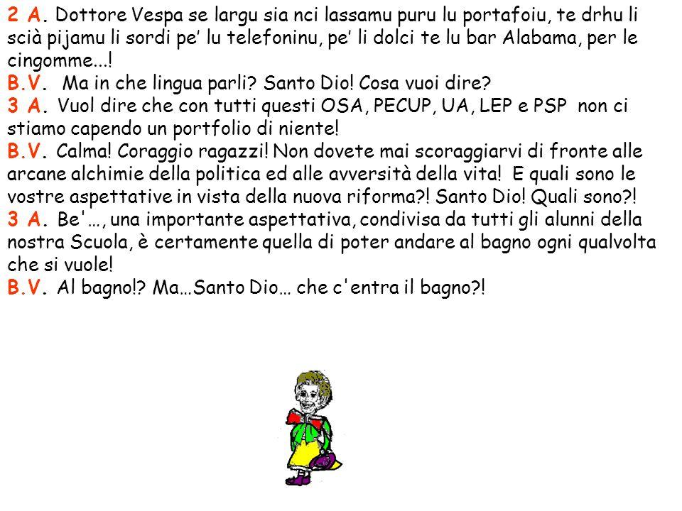 (La scena si svolge negli studi di Porta a Porta, la trasmissione di Bruno Vespa).