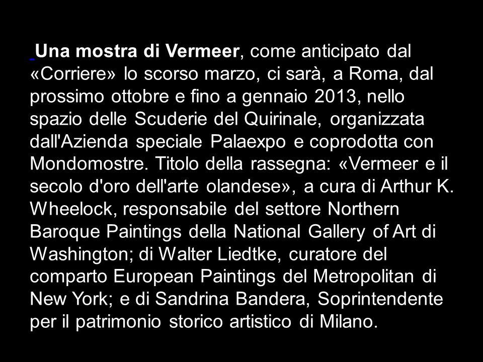 Della vita di Vermeer si conosce molto poco: le uniche fonti sono alcuni registri, pochi documenti ufficiali e commenti di altri artisti. La data di n