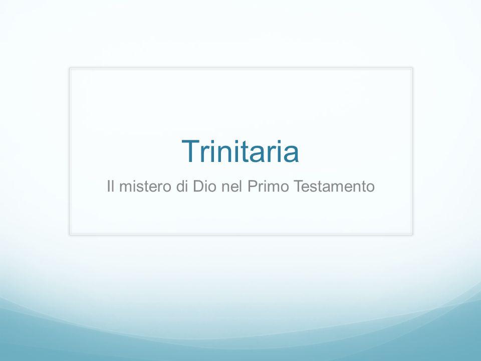 Trinitaria Il mistero di Dio nel Primo Testamento