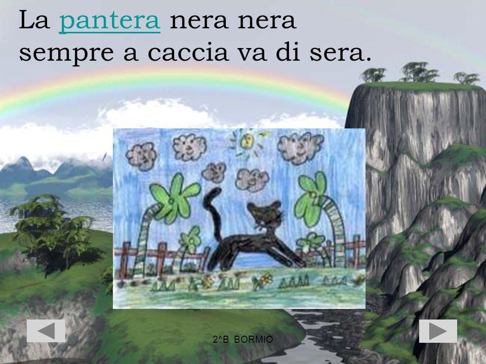 2^B BORMIO La pantera nera nerapantera sempre a caccia va di sera.
