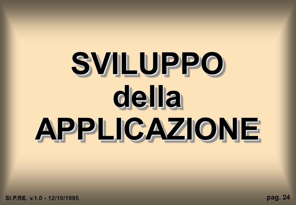 SVILUPPO della APPLICAZIONE SI.P.RE. v.1.0 - 12/10/1995 pag. 24