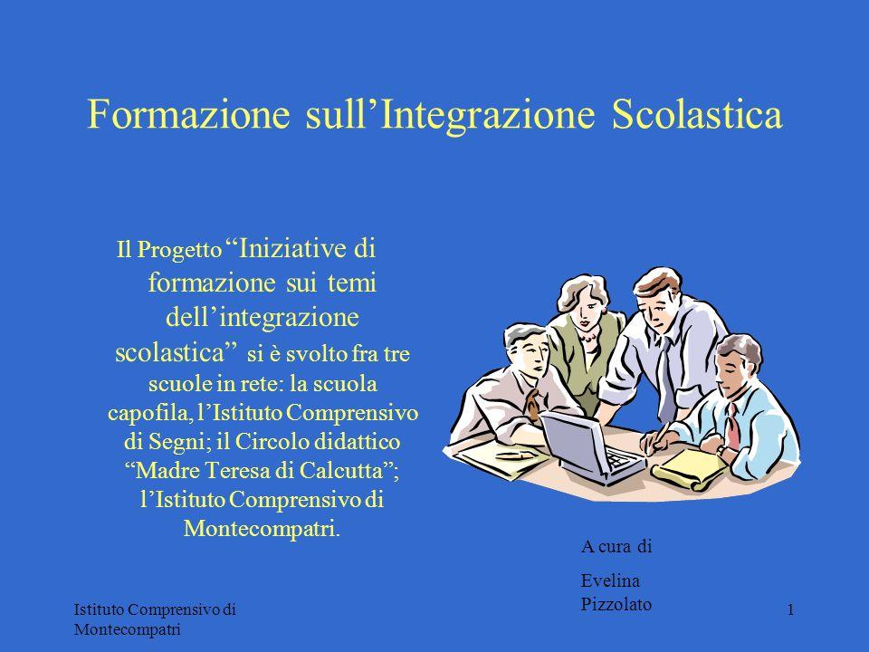 Istituto Comprensivo di Montecompatri 1 Formazione sullIntegrazione Scolastica Il Progetto Iniziative di formazione sui temi dellintegrazione scolasti